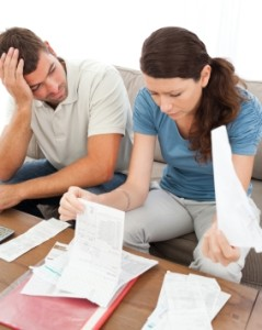 couple stressed over finances