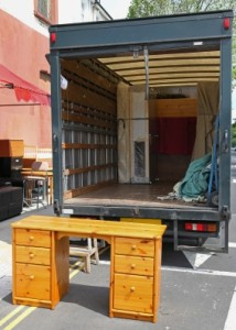 Furniture moving truck