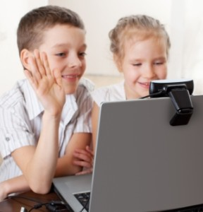Children webcam communication